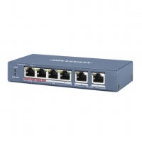 SWITCH PoE HIKVISION DS-3E0106P-E/M 4 PORT